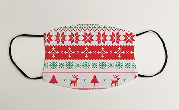 Reindeer and Snowflakes Christmas Jumper Christmas Face Mask Face Covering
