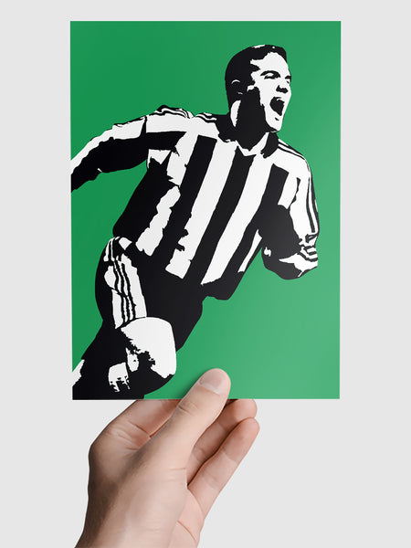 Laurent Robert NUFC Geordie Print A5, A4, A3 A2 or A1 Sizes