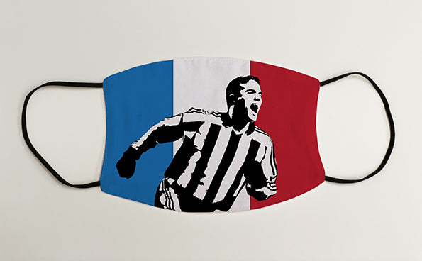 Laurent Robert FRANCE NUFC Geordie Face Mask Covering