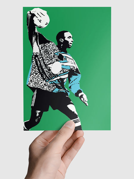 Shaka Hislop NUFC Geordie Print A5, A4, A3 A2 or A1 Sizes