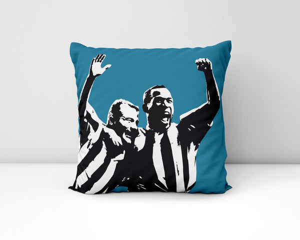 Alan Shearer and Les Ferdinand NUFC Geordie Cushion