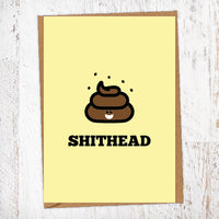 SHIT HEAD Illustration Name Calling Card Blunt Cards
