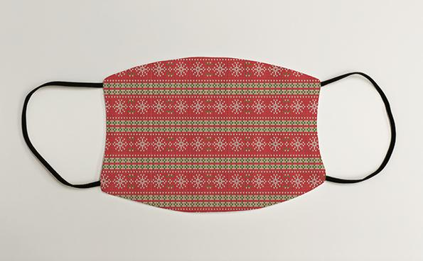 Snowflake Knitted pattern Christmas Face Mask Face Covering