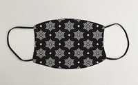Snowflake Wrapping Paper Black Christmas Face Mask Face Covering