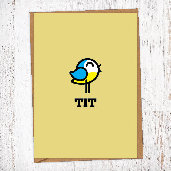 TIT Illustration Name Calling Card Blunt Cards