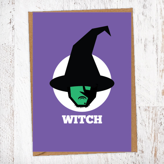 WITCH Illustration Name Calling Card Blunt Cards