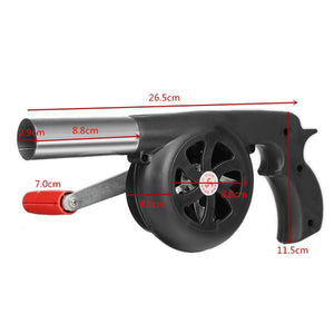 Barbecue Grill Hand Fan Starter Blower