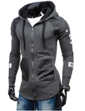 Fashion Men Hoodies Sports Suit Men Sweatshirt Hoodie Casual Zipper Hooded (Random Color)
