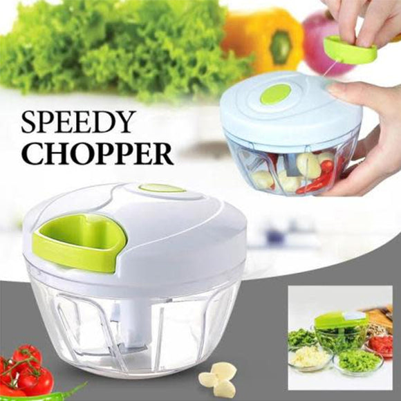 Mini Speedy Chopper Manual Hand Pull Vegetable & Meat Mincer 0110