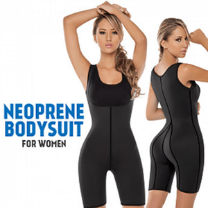 Hot Shapers Neoprene Bodysuit for Women, Black