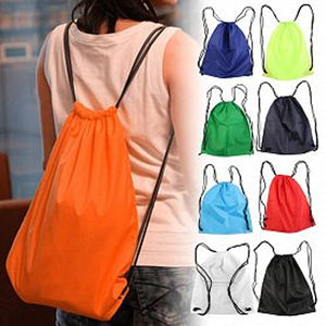 Premium School Drawstring Duffle Bag Shoe Backpack