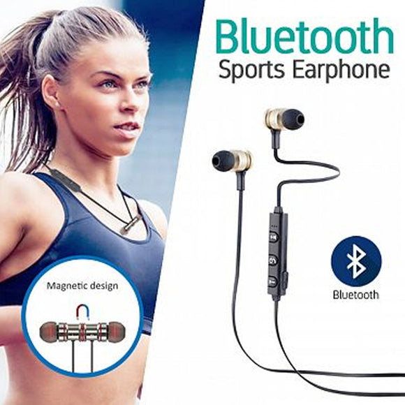 Wireless Bluetooth Sports Earphone With Mic & Volume Control