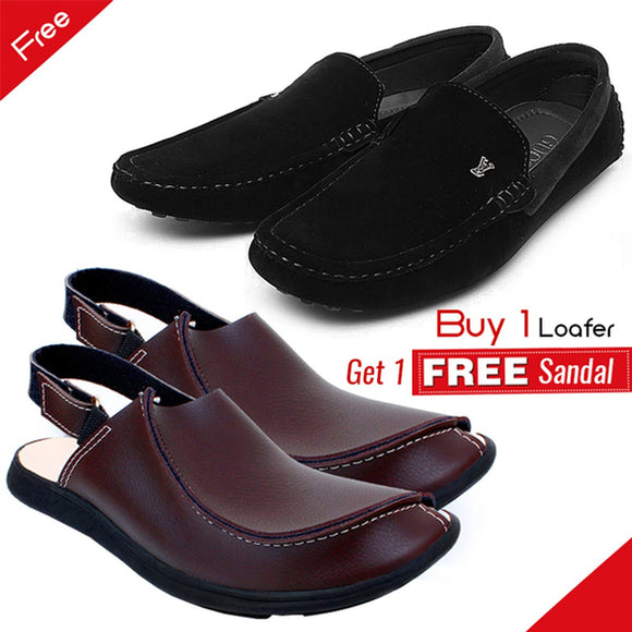 1 Pair of Loafers & Get 1 Pair of Sandals Free