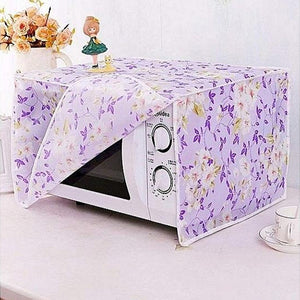 Microwave Oven Cover Cloth Dust Cover Kitchen Oven Hood Cover Cloth Anti-Oil Water Proof (1115)