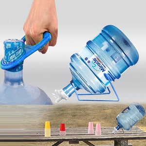 Pack of 2 Multi-Purpose Labor Saver Bottled Water Can Lifter Tool Portable Pure Bucket Handle and 19ltr Bottle Stand