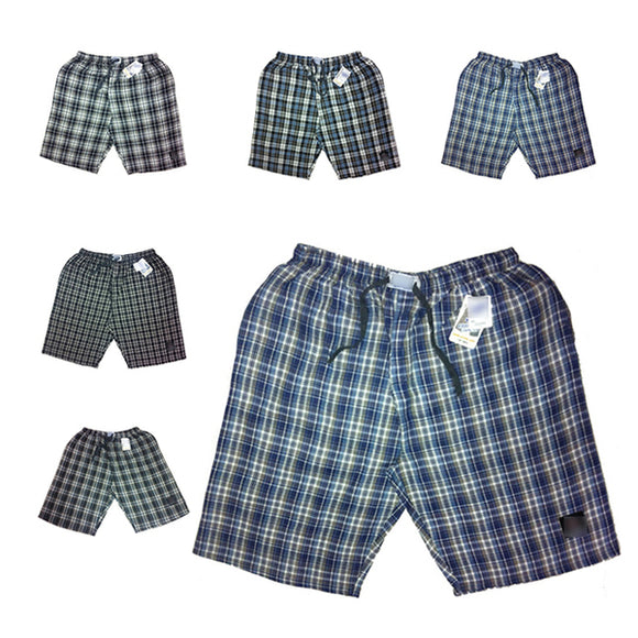 Men Checkered Yarn Dyed Cotton Shorts (Pack Of 4)