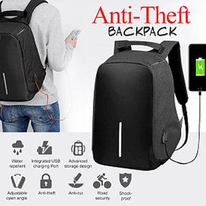 Anti-Theft Backpack 18 Inch, TF-55, Black