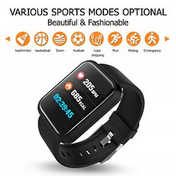 Sport Bracelet Smart Wristband Heart Rate Blood Pressure Sleeping Quality Monitor