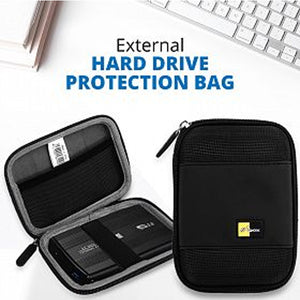 Hard Sailcloth 2.5 Inch Portable External Hard Drive Protection Bag.