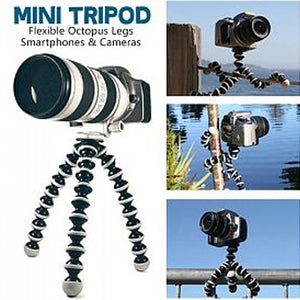 OT Mini Tripod with Flexible Octopus Legs & Adjustable Phone Mount Adopter
