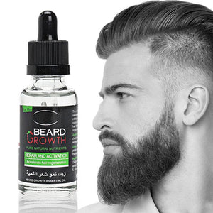 Pack Of 2 Hair & Beard Growth Essential Oil Enhance Facial Whiskers Nutrition Moustache