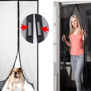 Magic Mesh of Magnetic Instant Hands-Free Screen Doors For Home Pets Bugs 83 Inch x 39 Inch