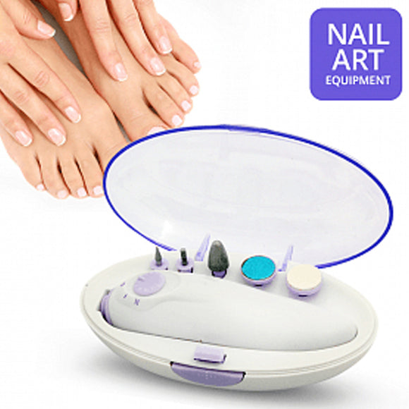 Professional Nail Art Equipment Electric Nail Drill Pen Sharp Bi-Rotation Manicure & Pedicure Set