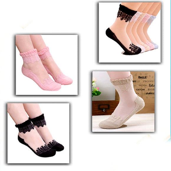 Pack Of 4 Ultra Thin Breathable Socks