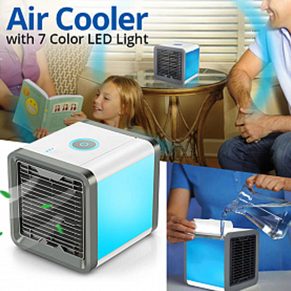 WALFRONT Air Conditioner Portable Personal Space Air Cooler Humidifier Purifier 3 in 1 Cooler Mini AC USB Cooling.