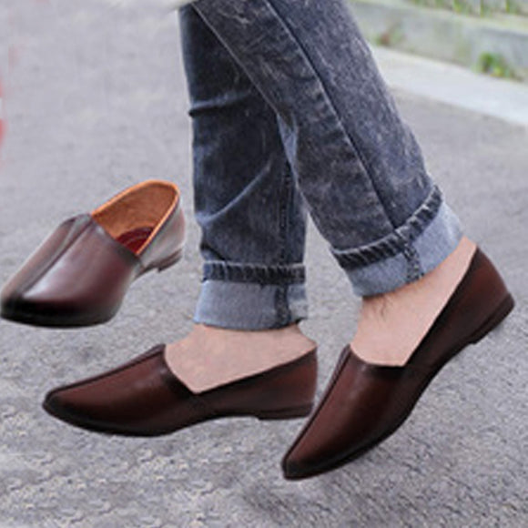 Loafers Flat Shoes Men - Brown (0013)