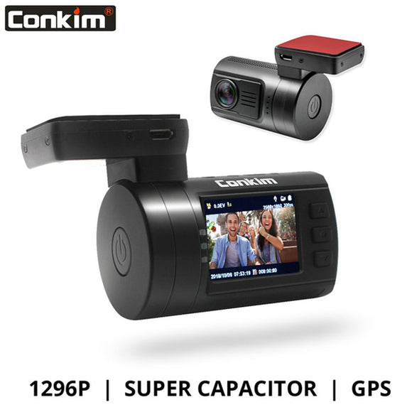 Conkim Ambarella A7 Dash Cam Mini 0806s Car DVR With GPS 1296P (0002)