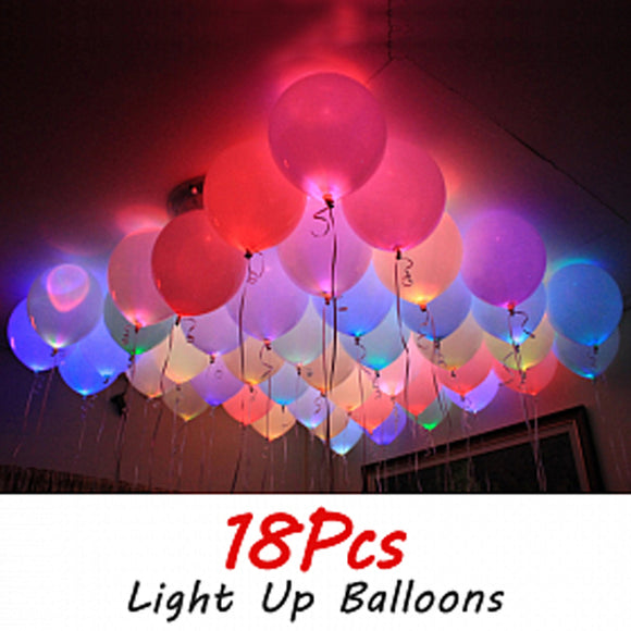 Light Up Balloons 18 Pcs