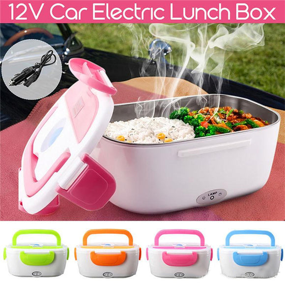 Portable Electric Lunch Box Heated Food Containers Meal Prep Rice Food Warmer Dinnerware Sets For Kid Bento Box Travel/Office (001)