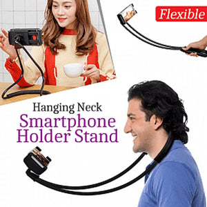 New Flexible Hanging Neck Lazy Necklace Bracket Smartphone Holder Stand For Mobile, Black Car Mounts & Holders (1026)