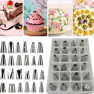 24 Nozzles For Cake Decoration