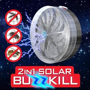 2in1 Mosquito Insect Solar Buzz Kill Zapper Killer
