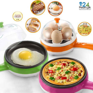 2 in 1 Egg Boiler & Electric Frying Pan
