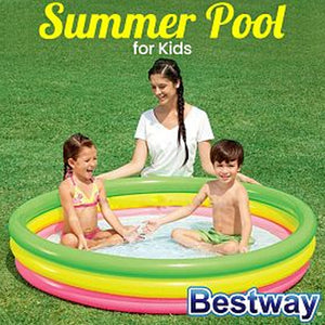 Bestway 3 Ring Colorful Summer Pool For Kids