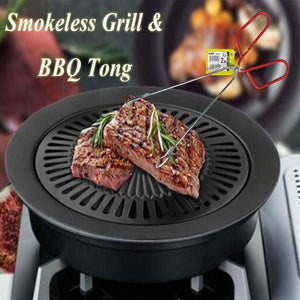 New Smokeless Grill With Free BBQ Tong (1131)Q