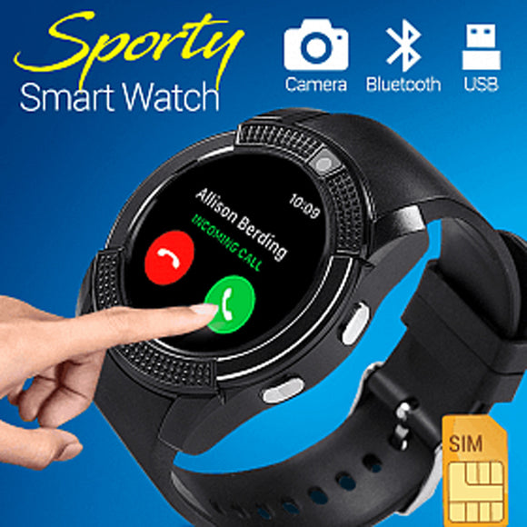 SMART BISON Smart Watch V8, Black