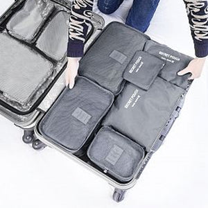 6 Pcs Set Square Travel Luggage Storage Bags Clothes Organizer Pouch Case (1125)