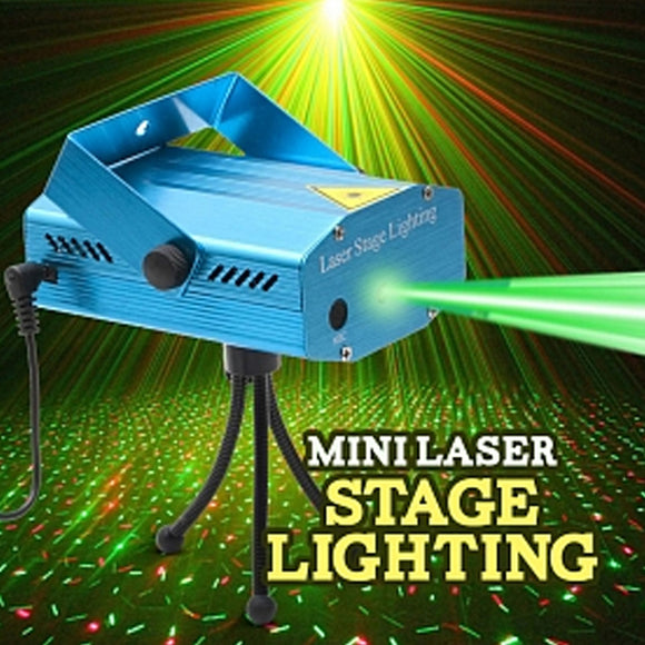 Mini Stage Light LED Laser Projector For DJ Disco Party  Christmas Decor Stage Lighting Effect