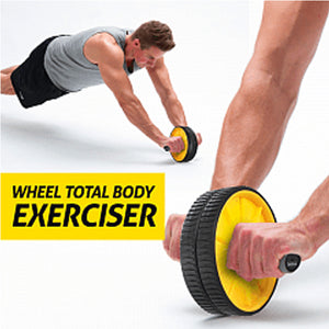 AB Wheel Total Body Exerciser Dual Wheel Design For Increased Stability