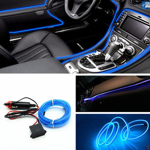 3 Meters atmosphere lamps car interior ambient light cold light line diy decorative dashboard console door car styling