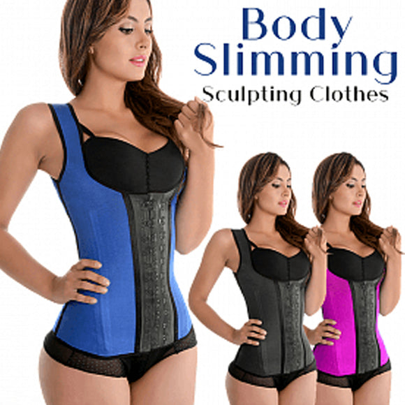 Natural Latex Sculpting Clothes For Waist Abdomen Rubber Body Slimming Size M