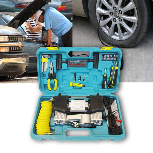 Car Air Compressor Double With Tools