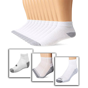 Branded Xersion Soft Terry Ankle White Sock For Men (Pack Of 6)