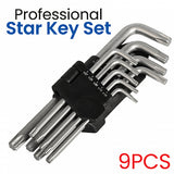 9Pcs Quality Professional Star Key Set Middle