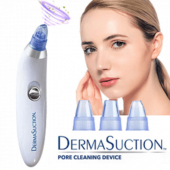 Derma Winds Portable Cordless Rechargeable Suction with 4 Interchangeable Heads