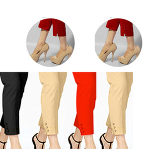 Pack of 4 Stylish Cigarette Pants for Her (005)